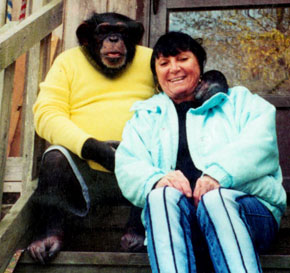 Either Travis the Chimp or Sandra Herold?